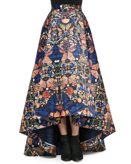 Cohe Asymmetric Printed Skirt