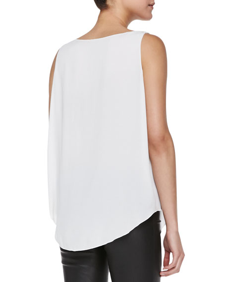 Lucy Sleeveless Silk Trapeze Top