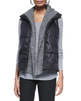 Puffer Reversible Vest, Black
