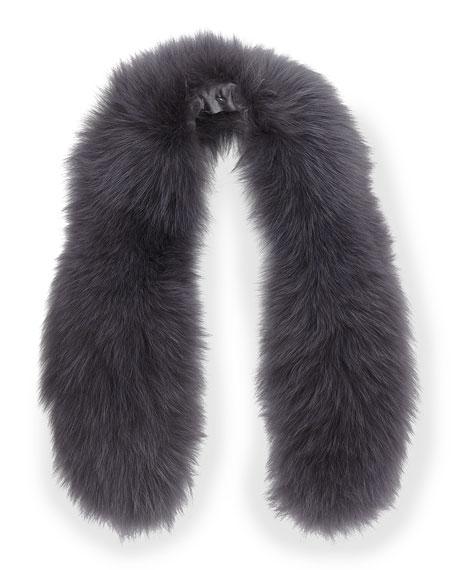 Izzy Fox Fur Collar, Gray