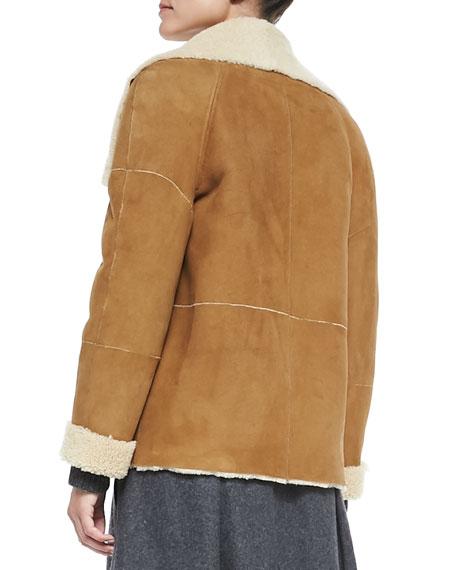 Bi-Tone Lamb Shearling Jacket