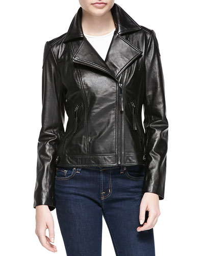 Neiman Marcus Leather Motorcycle Jacket