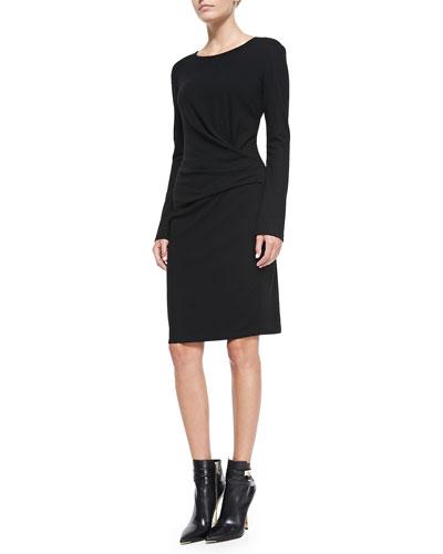 DKNY Long-Sleeve Faux Wrap Dress