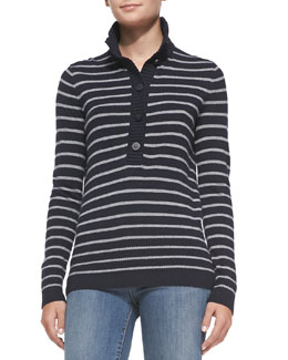 Tory Burch Giselle Striped Knit Sweater
