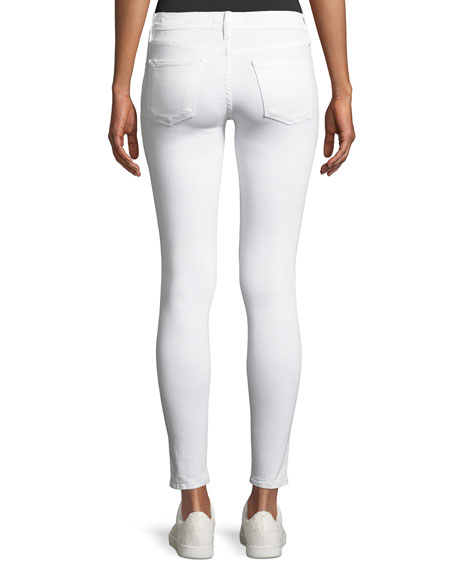 Le Color Rip Skinny Distressed Jeans, Blanc De Blancs