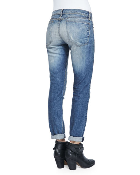 Dre Surfer Repair Slim Boyfriend Jeans