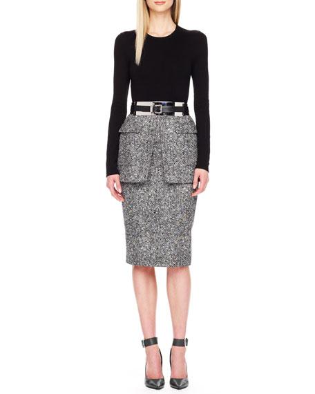 Michael Kors Tweed Peplum Skirt