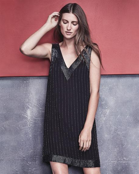 Joie Francoise Beaded Double-Strap Dress
