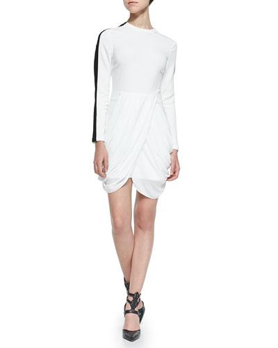 A.L.C. Tolan Draped-Front Dress