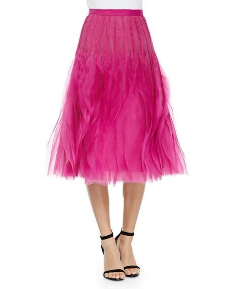 Sachin & Babi Noir Poppy Organza Ruffled Skirt,
