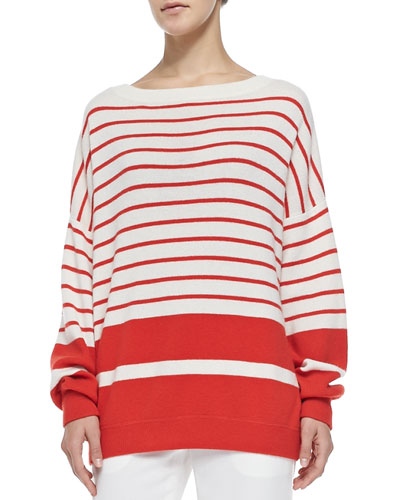 Vince Cashmere Banded Ribbed Sweater