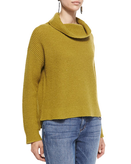 Eileen Fisher Super-Soft Funnel-Neck Ribbed Top, Women's