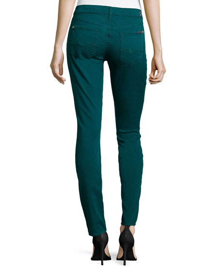 Gwenevere Twill Skinny Jeans, Jade