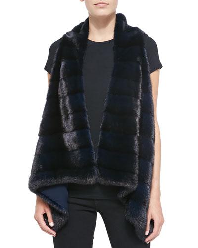Oscar de la Renta Mink Fur Draped Vest