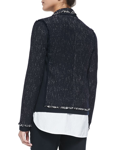 Fake Cheap Price Vince Fringed Tweed Jacket Discount Pick A Best Outlet Cheap Authentic Wide Range Of For Sale MhhRjf