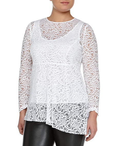Marina Rinaldi Facilita Long-Sleeve Lace Tunic, Women's