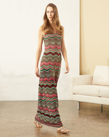 M Missoni Sleeveless Zigzag Maxi Dress