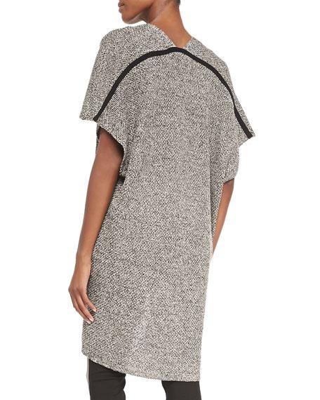 Kimono-Sleeve Organic Linen Wool Cardigan, Women's