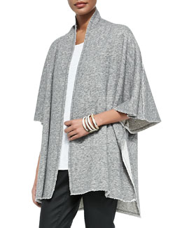 Fisher Project Terry Half-Sleeve Cape, Pewter