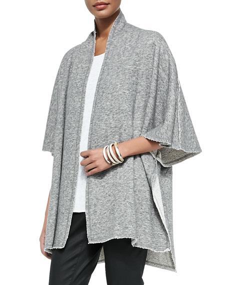 Eileen Fisher Fisher Project Terry Half-Sleeve Cape, Pewter