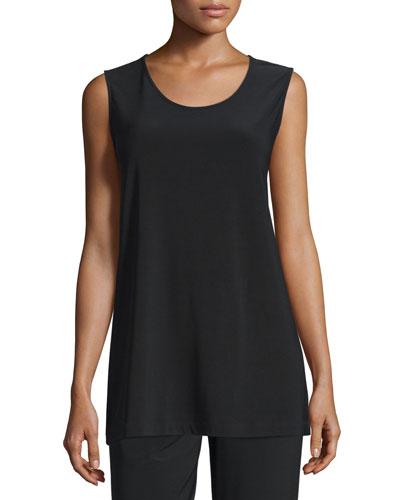 Caroline Rose Knit Tunic/Tank, Black, Women's