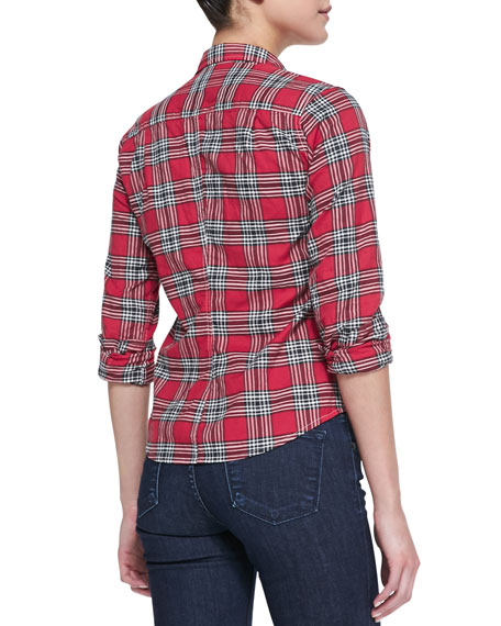 Barry Slim Plaid Shirt