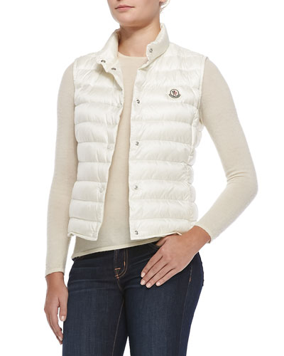 Liane Puffer Vest, White