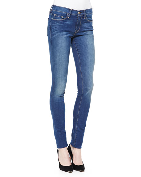 FRAME Forever Karlie Skinny High-Rise Jeans, Columbia Road