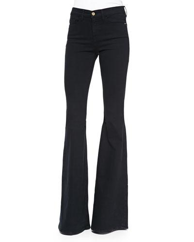 Forever Karlie Flared-Leg Denim Jeans, Film Noir