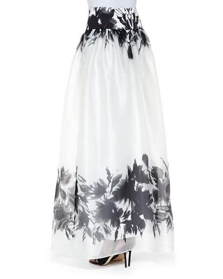Mirage Border-Print Maxi Skirt