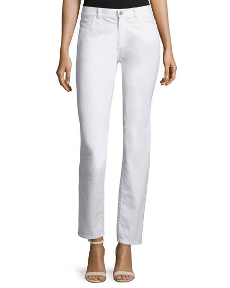Lafayette 148 New York Curvy Slim-Leg Jeans, Black,