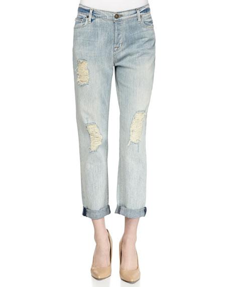 Leigh Distressed Boyfriend Jeans, Weekend Warrior