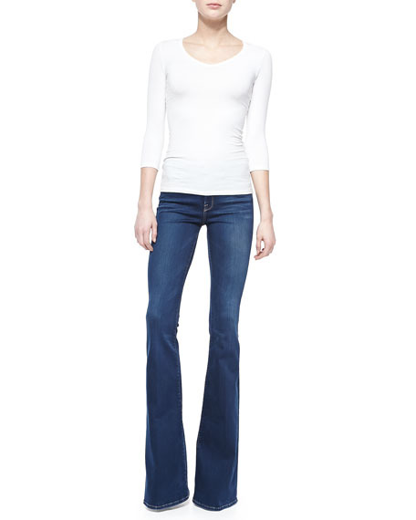 FRAME Forever Karlie Flared-Leg Palisades Denim Jeans, Blue