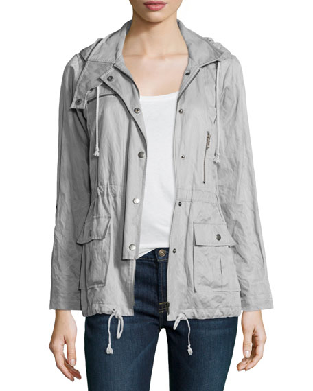 JoieBarker Hooded Metallic Anorak