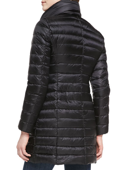 Vanne Funnel-Neck Puffer Coat, Black