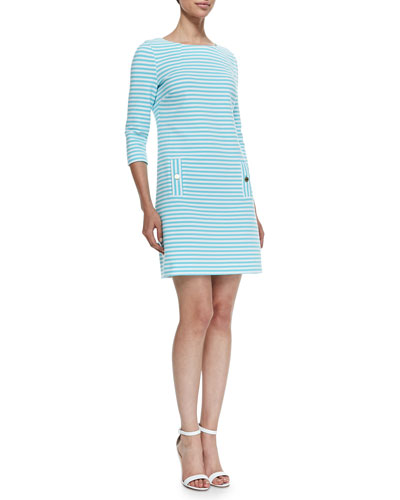 Charlene Ottoman-Striped Dress