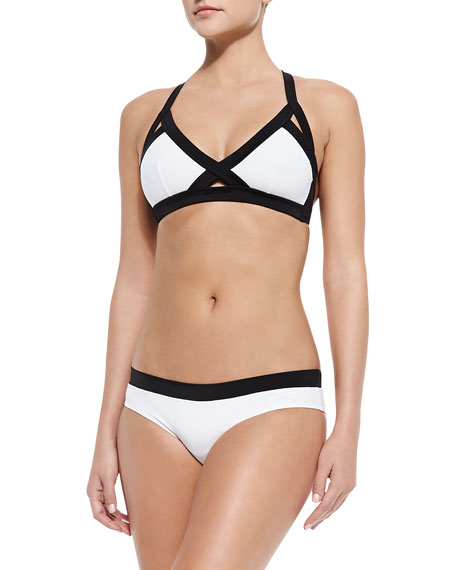 OYE Swimwear Luna Contrast Crisscross Two-Piece
