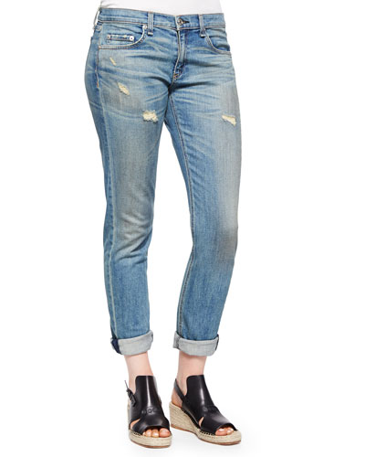 The Dre Faded Distressed Cuffed Jeans
