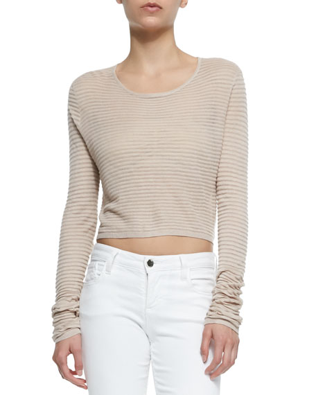 Alice + Olivia Ribbed Knit Crop Top