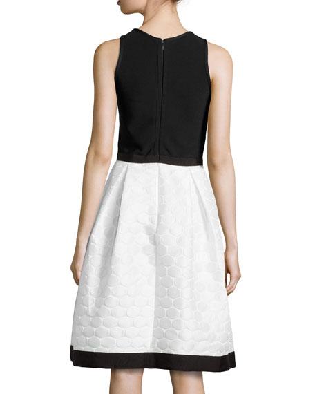 Sleeveless Dress W/ Polka Dot Skirt