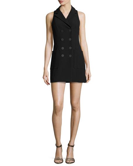 Nanette Lepore Sleeveless Double-Breasted Coat Dress