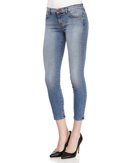 J Brand Jeans Mid-Rise Cropped Denim Jeans, Dynamic
