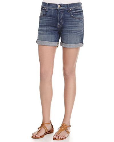 Relaxed-Fit Denim Shorts
