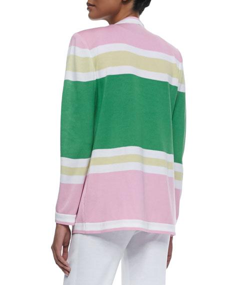 Colorblock Draped Cardigan
