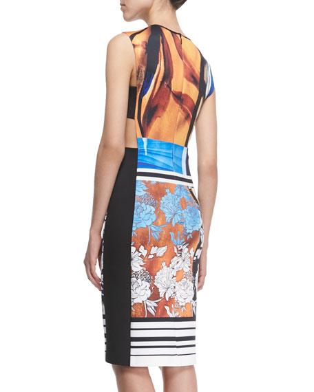 Burmese Dream Printed Cutout Dress