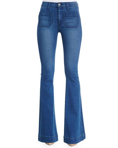 Hudson Taylor High-Waist Flare-Leg Jeans, Superior