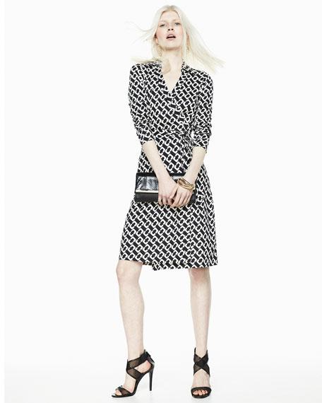 340fabce272 Diane von Furstenberg New Jeanne Chain-Link Jersey Wrap Dress