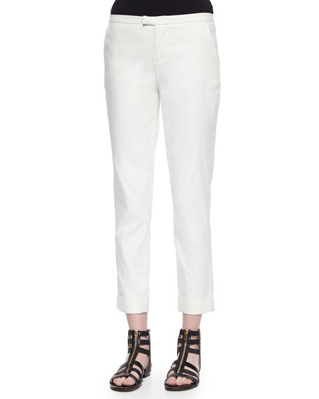 ATM Low-Rise Slim Cuffed Pants