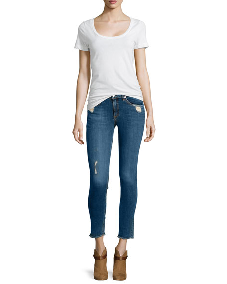 Destroyed Dark Skinny Jeans, La Paz