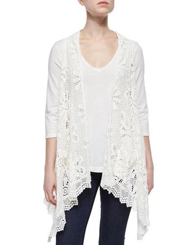 Crochet Sleeveless Vest, Women's